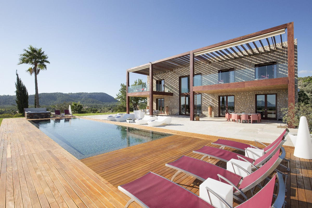 Modern country house with beautiful views of Bay of Pollensa, set in 13 acres of grounds