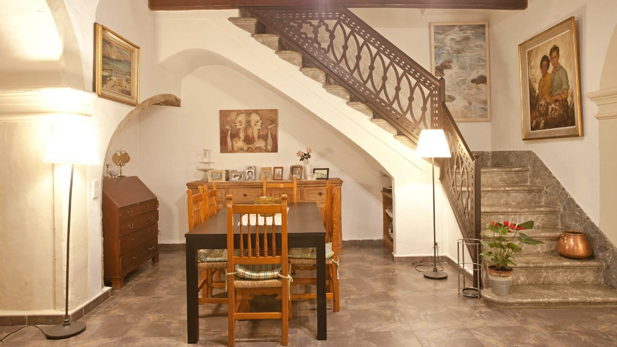 Renovated grand town house in Old Town Pollensa Pueblo with large terrace