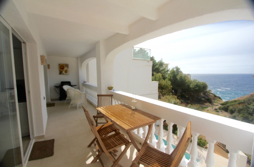 Frontline Sea view 2 bedroom apartment close to Puerto Andratx