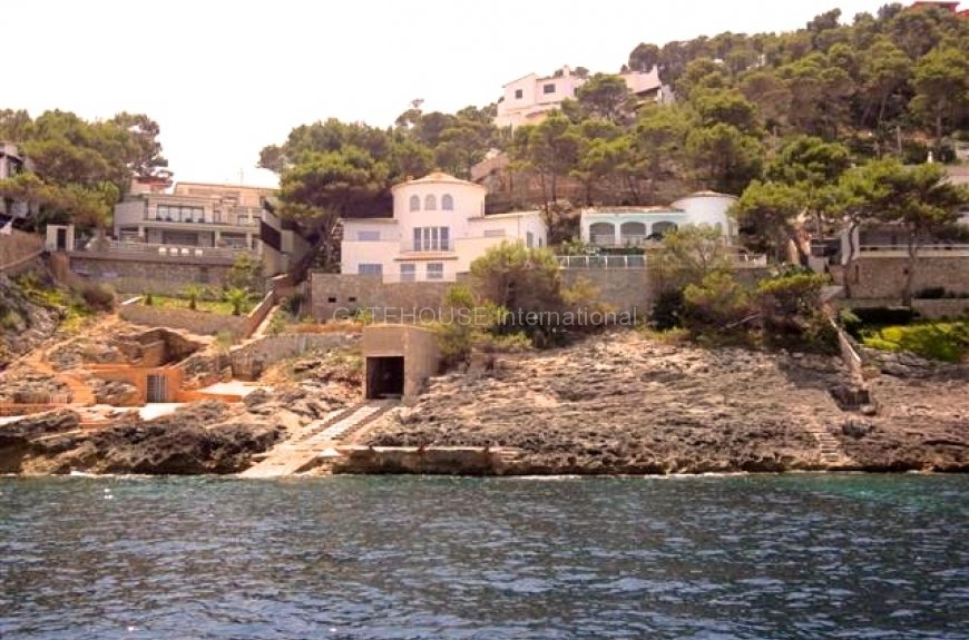 For Sale Puerto Andratx sea front luxury house, sea access & boat house
