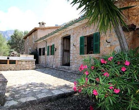 Traditional stone house for sale with sea & mountain views Soller Mallorca