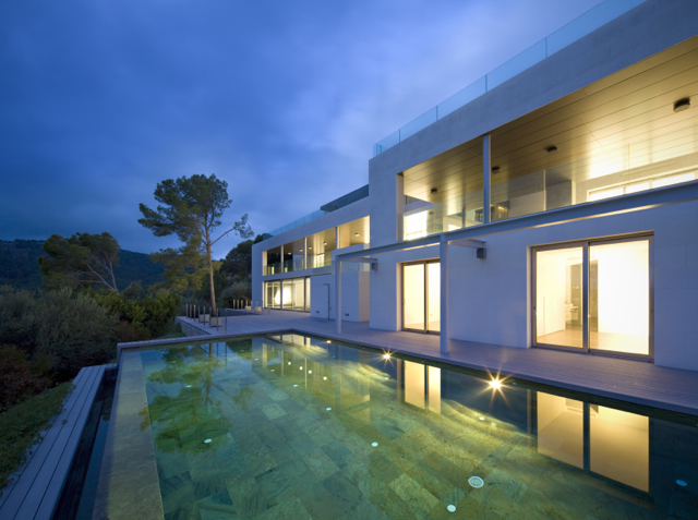 A stunning contemporary villa high up in Son Vida with fantastic views