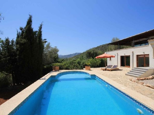 Renovated contemporary villa for sale Bunyola with fantastic countryside views