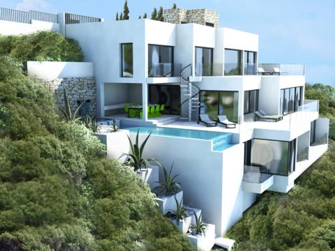 Luxury frontline villa for sale in Canyamel, Mallorca with ultra modern design