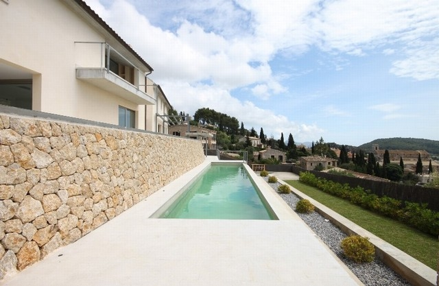 New build modern townhouse for sale on the famous Calvario steps in Pollensa